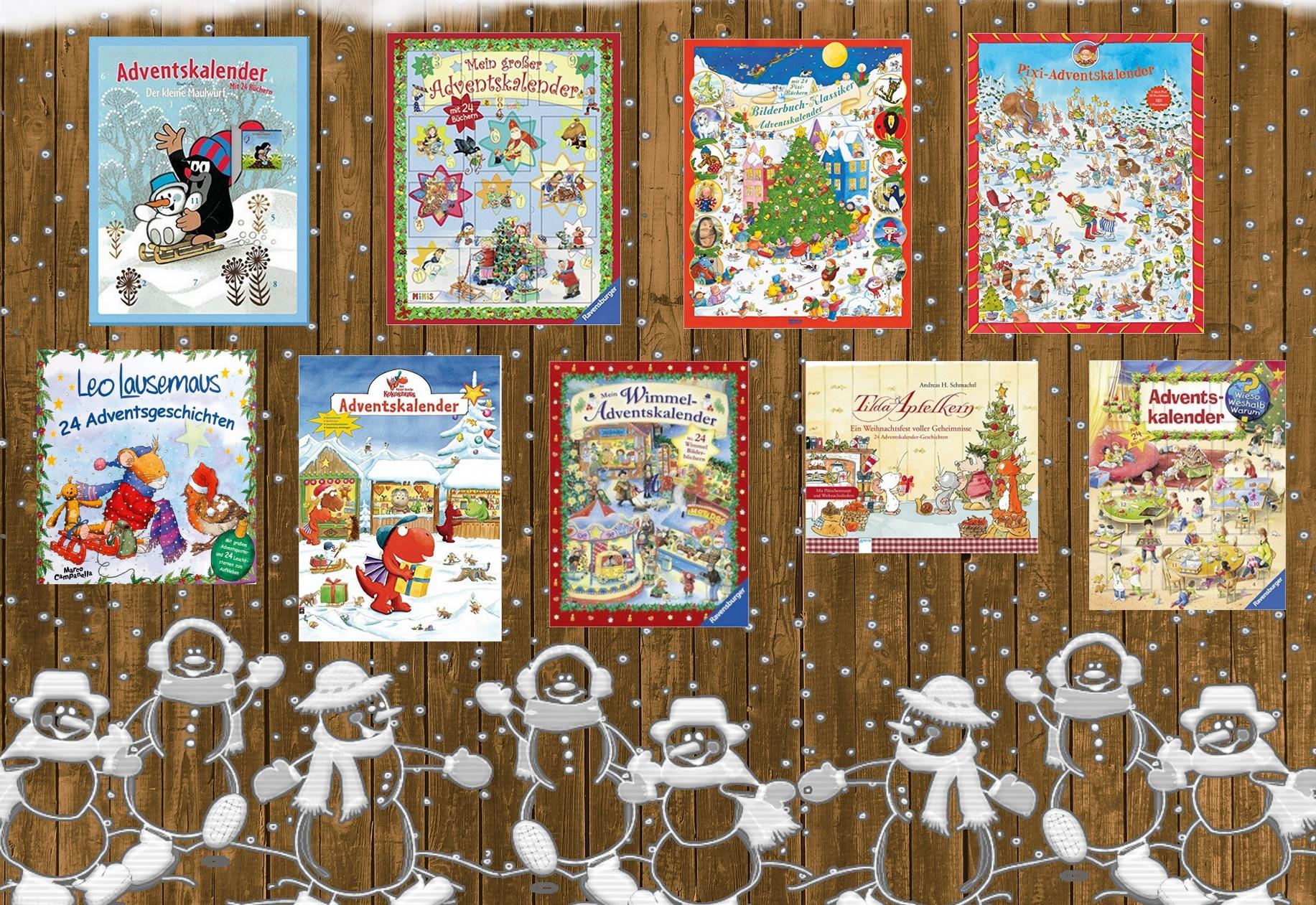 Adventskalender mit 24 Mini-Büchern