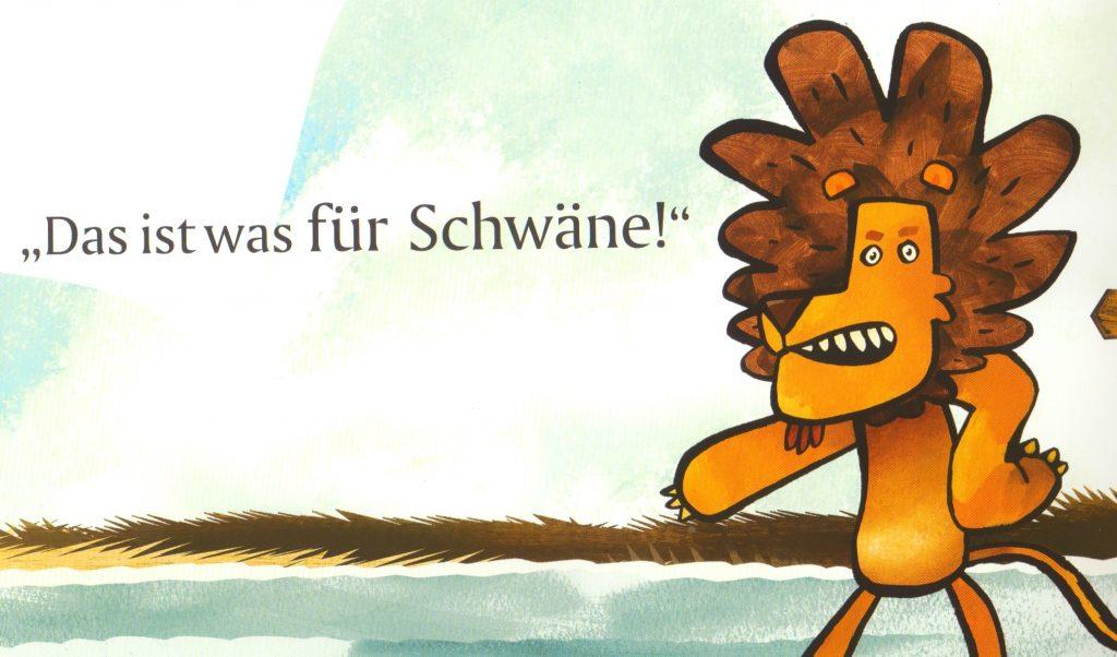 Vom Löwen, der nicht schwimmen konnte Bild 1