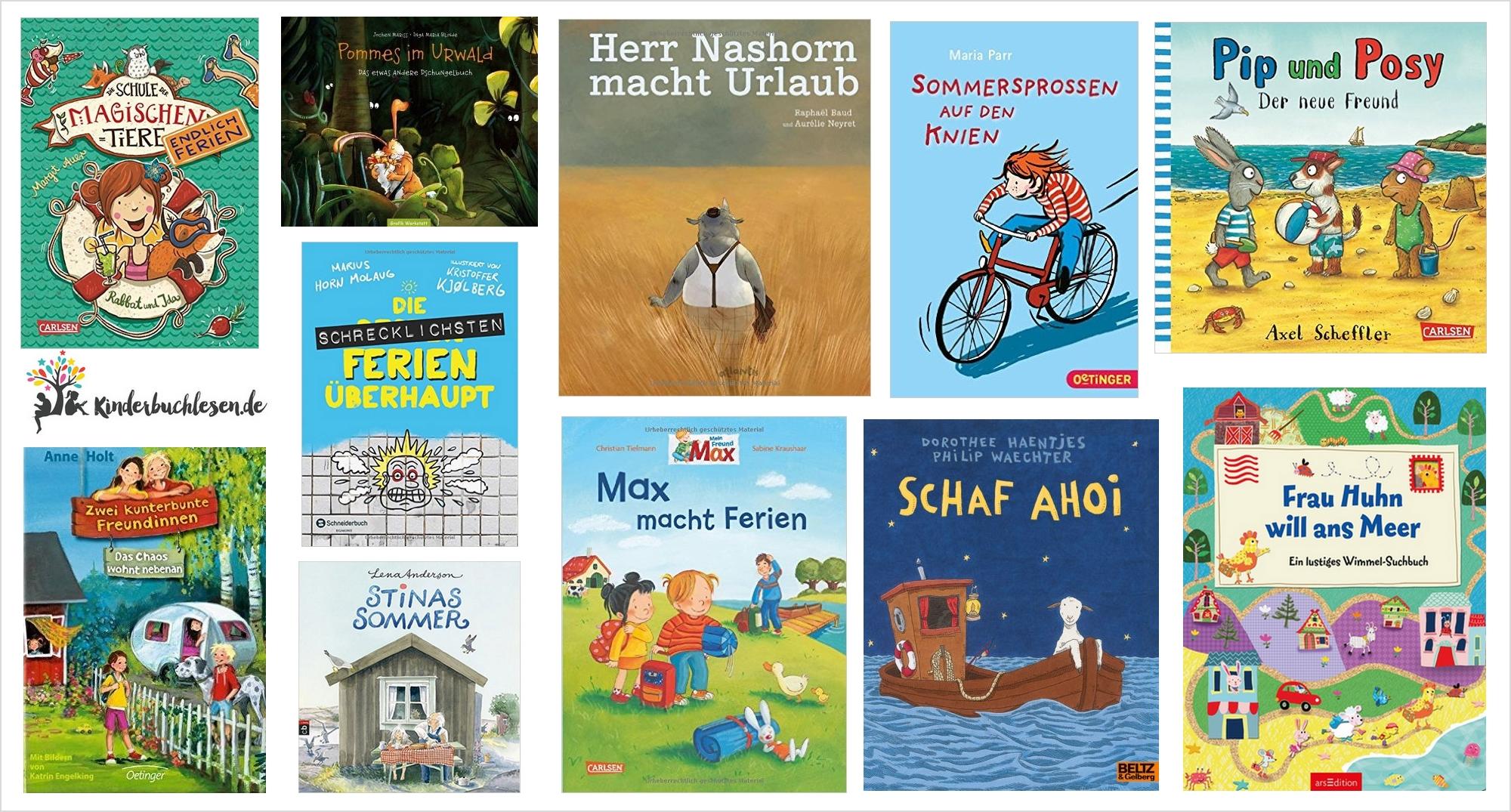 Urlaubslektüre: Kinderbuchtipps für die Ferien