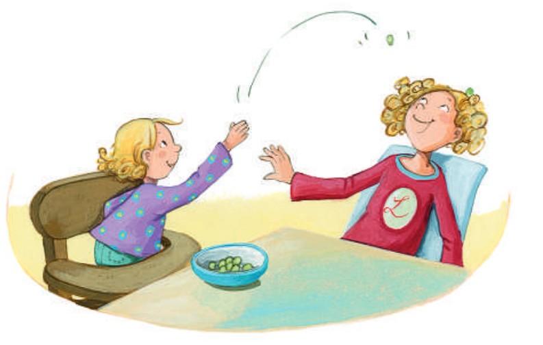 Lisbeth und Weintrauben