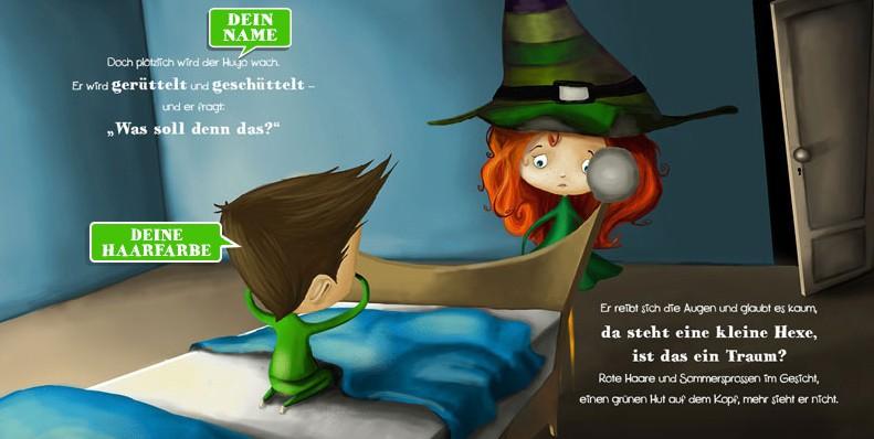 Personalisiertes Kinderbuch: Hexe Wawu