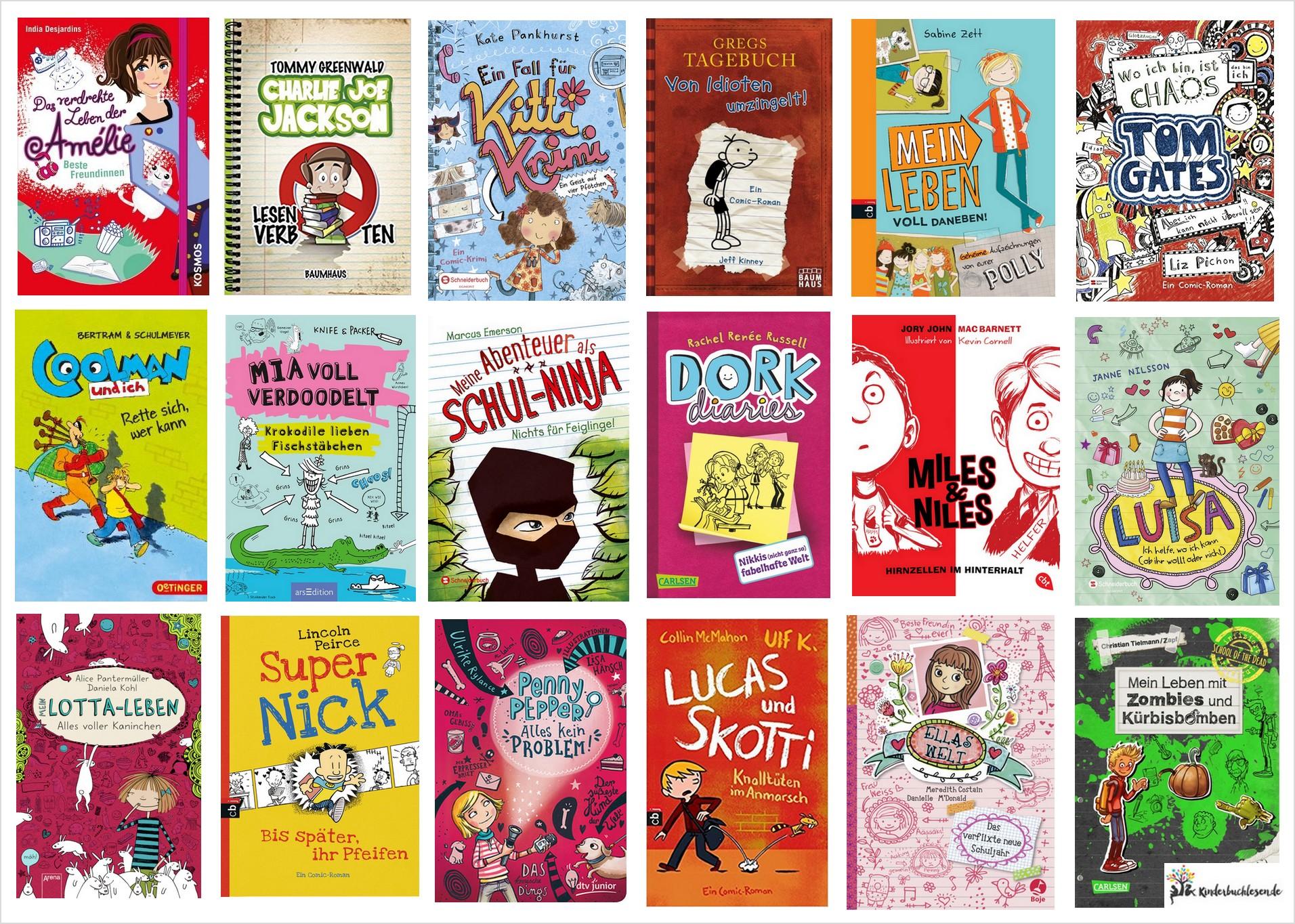 Kinderbuchreihen im Tagebuchformat