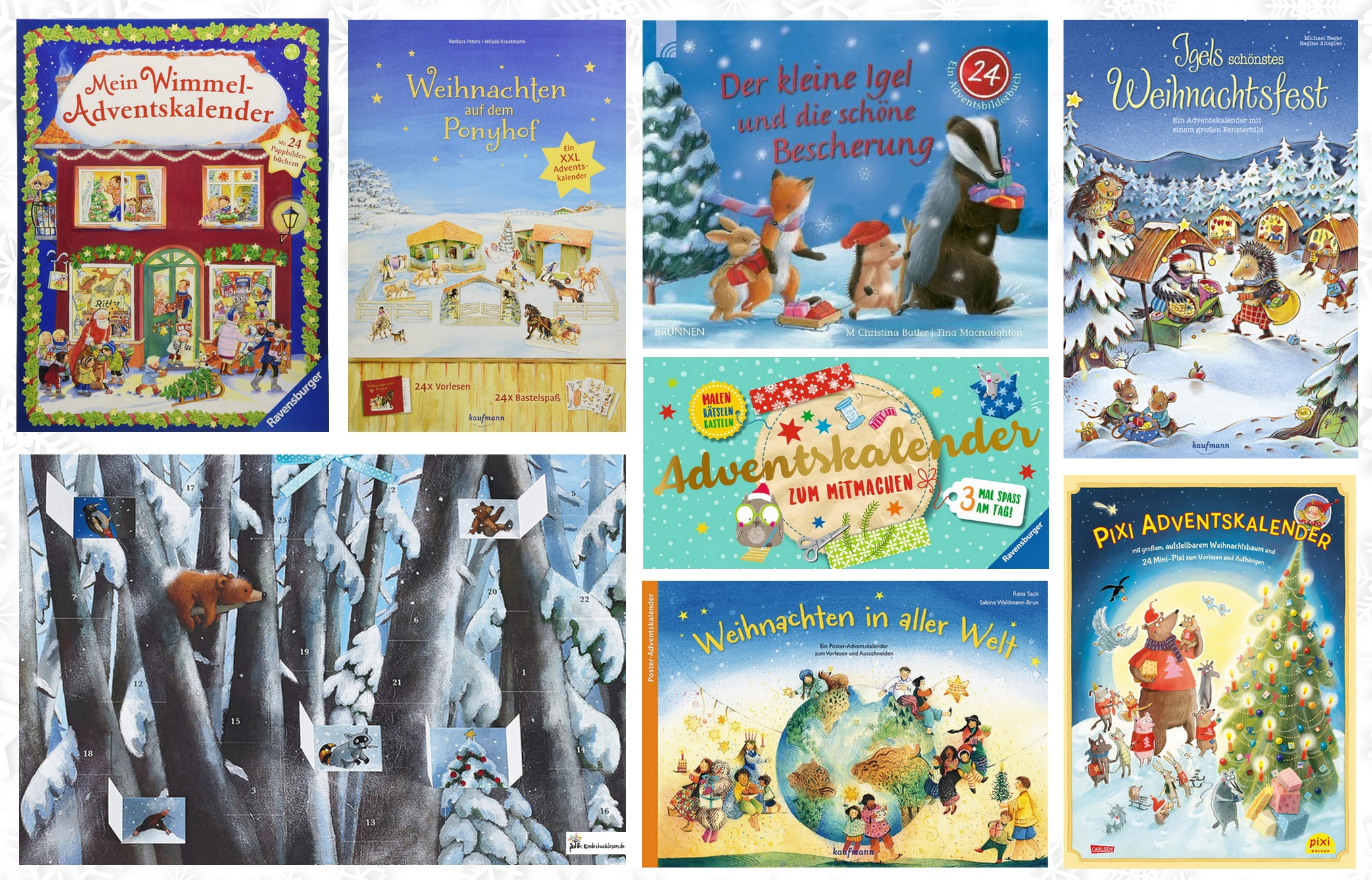 Adventskalender: Mini-Bücher & Bildergeschichten