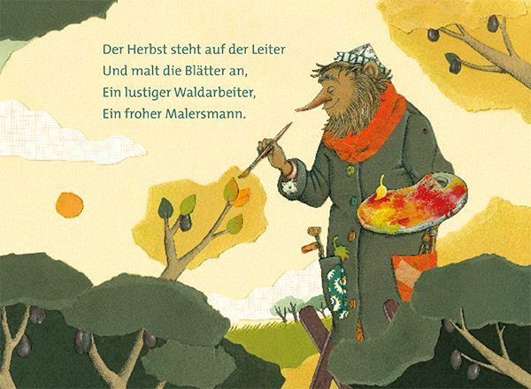 Herbst leiter auf der der gedicht steht Peter Hacks